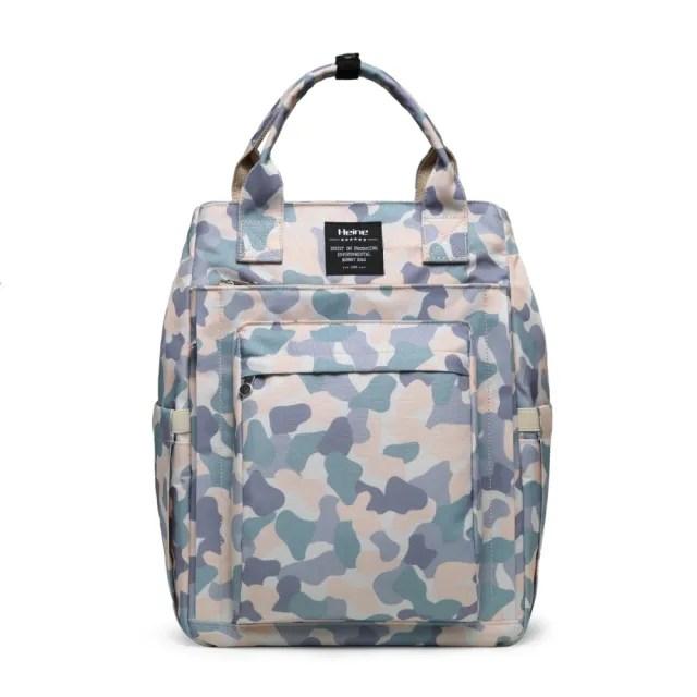 【Heine 海恩】WIN-0209 後背包 筆電包 電腦包 媽媽包 尼龍包 防盜防潑水背包 女包 包包(收納 旅行包 迷彩)