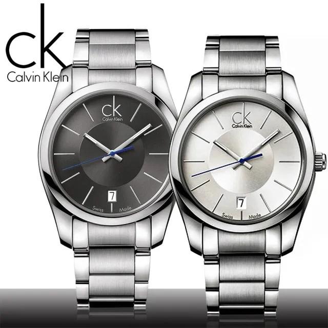 【瑞士 CK手錶 Calvin Klein】藍色秒針經典款紳士錶(K0K21107_K0K21120)