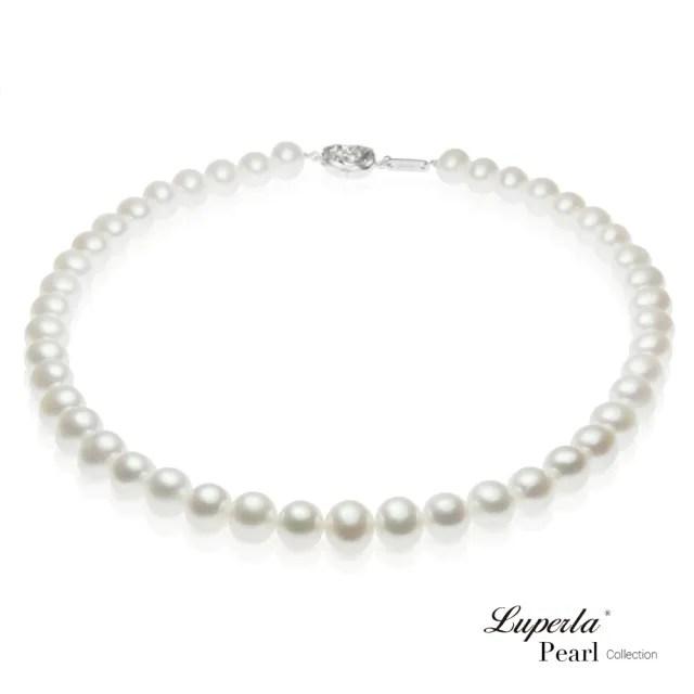 【大東山珠寶】女王級天然淡水珍珠項鍊