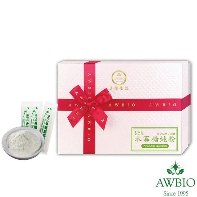 【美陸生技AWBIO】95%木寡糖純粉 益生菌(經濟包 15包/盒)
