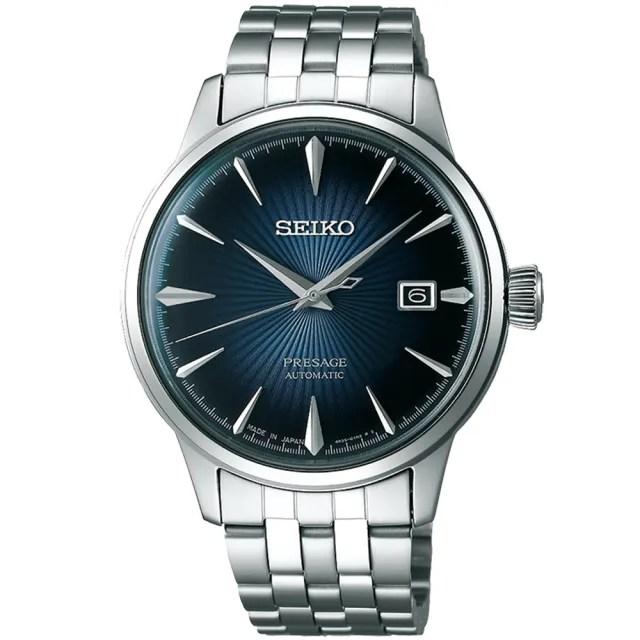 【SEIKO 精工】Presage 調酒師系列機械錶(40mm 4R35-01T0A)