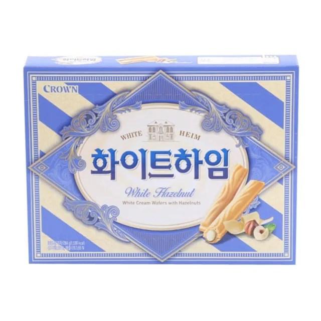 【CROWN 皇冠】白巧克力夾心威化酥(142g)