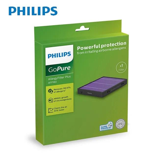 【Philips 飛利浦】PHILIPS 飛利浦 車用除菌空氣清淨機極淨過敏濾網組一入AFP120