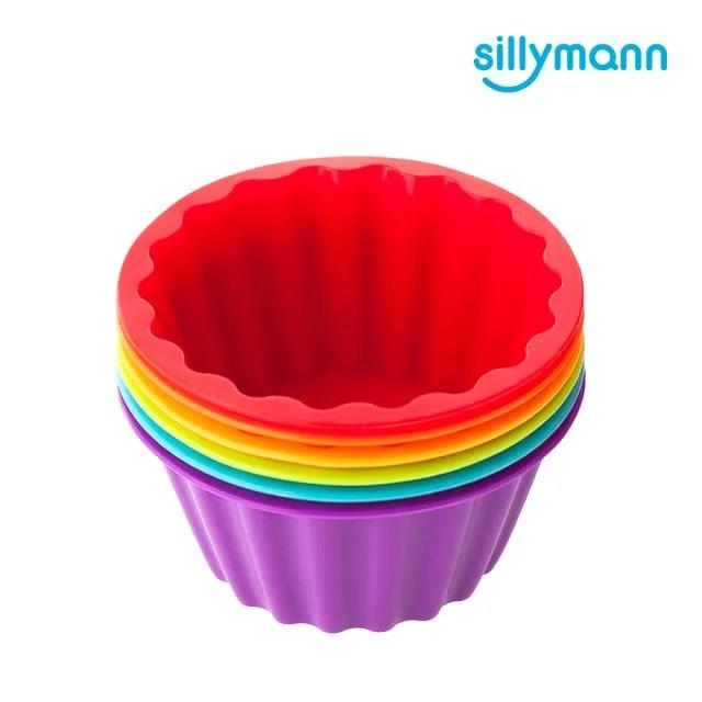 【韓國sillymann】100%鉑金矽膠鬆餅麵包烘焙模具-180ml/6入(鉑金矽膠可進洗碗機高溫清潔可沸水消毒)