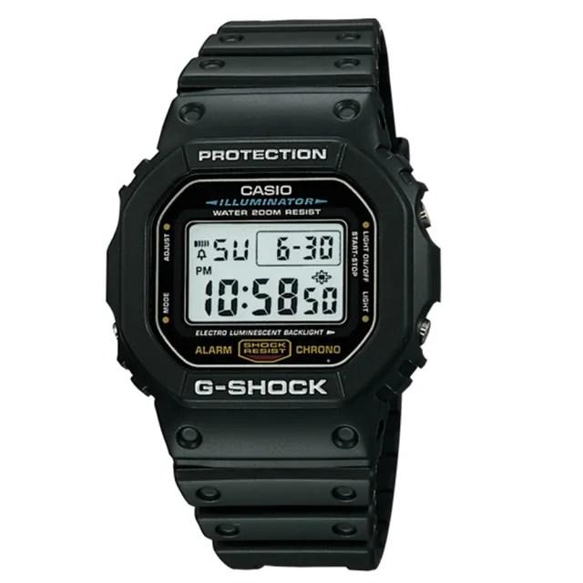 【CASIO 卡西歐】G-SHOCK 經典錶款5600系列/43mm(DW-5600E-1)