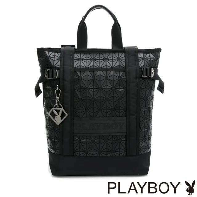 【PLAYBOY】托特後背包 Beyond系列(黑色)