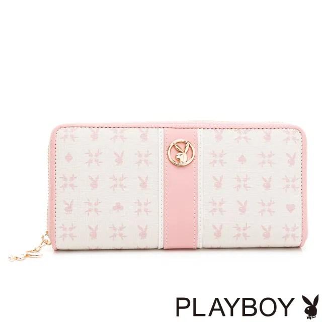 【PLAYBOY】ㄇ拉長夾  Bunny Poker 撲克甜心系列(粉色)