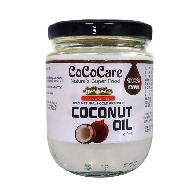 【CoCoCare】100%冷壓初榨椰子油(200ml)