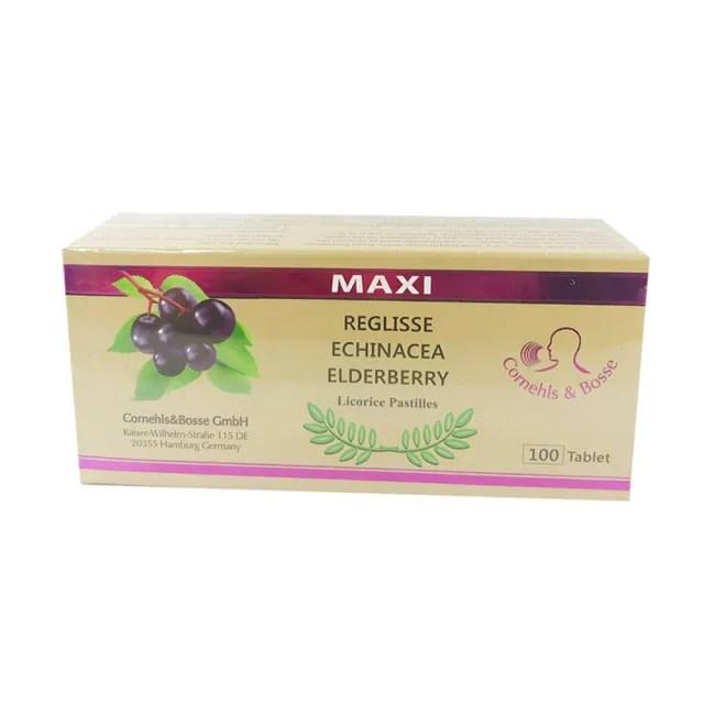【樂立舒】紫錐花+接骨木莓草本甘草潤喉錠(100顆/盒)