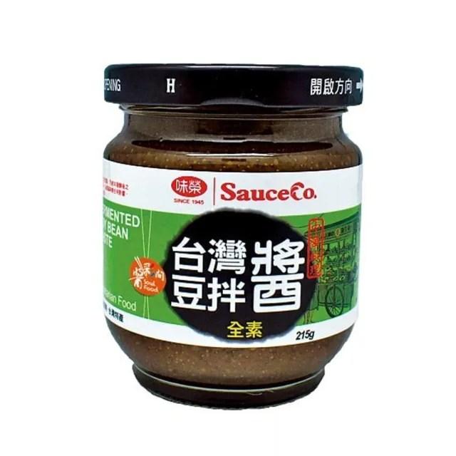 【味榮】天然臺灣豆拌醬 全素 215g/罐(原味)