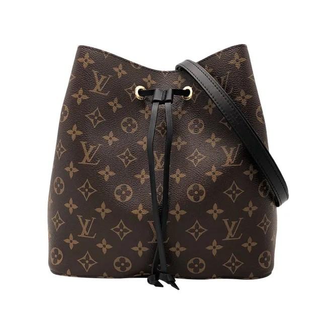 【Louis Vuitton 路易威登】Neonoe 經典花紋肩斜兩用水桶包(M44020-黑)