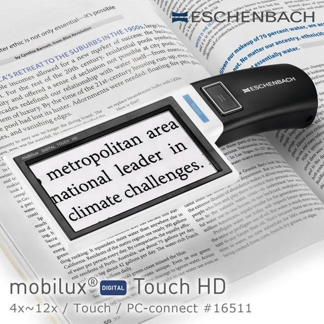 【Eschenbach】Touch HD 4x-12x 4.3吋觸碰螢幕手持型可攜式擴視機 可接電腦 16511(公司貨)
