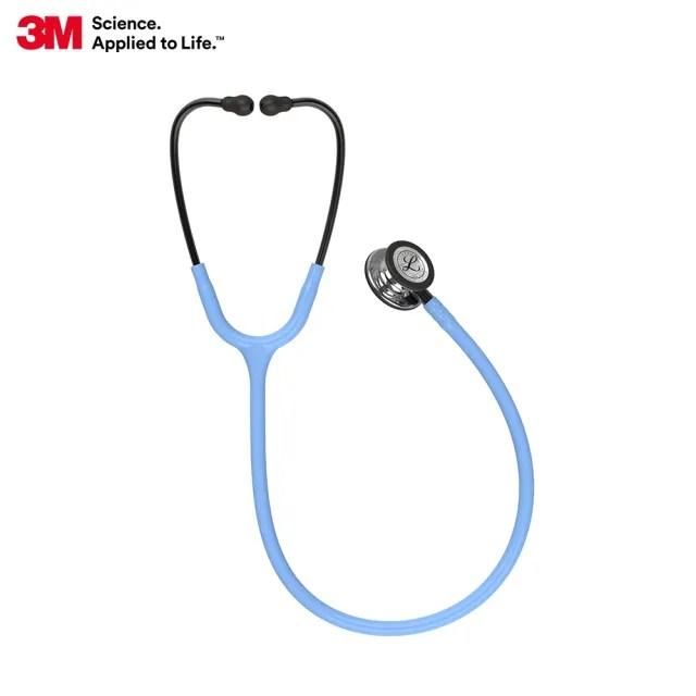 【3M】Littmann 一般型第三代聽診器 5959 水霧藍色管/鏡面聽頭/煙燻黑金屬杆(聽診器)