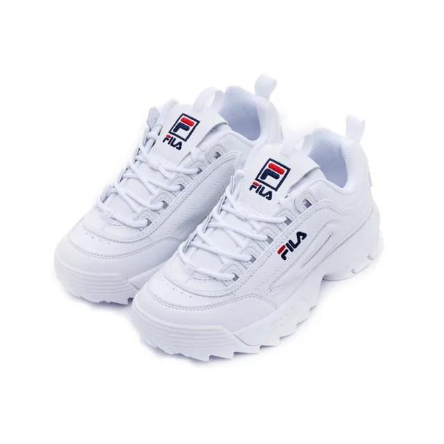 【FILA】男女款 運動鞋 老爹鞋 鋸齒鞋  DISRUPTOR II 中性運動鞋-白(4-C608V-125)