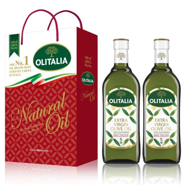 【Olitalia奧利塔】特級初榨橄欖油禮盒組(1000mlx2瓶)