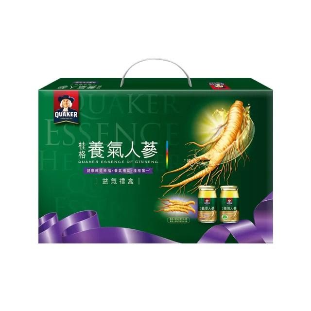 【桂格】養氣人蔘益氣禮盒60ml×12入(養氣人蔘8入+蟲草人蔘4入)