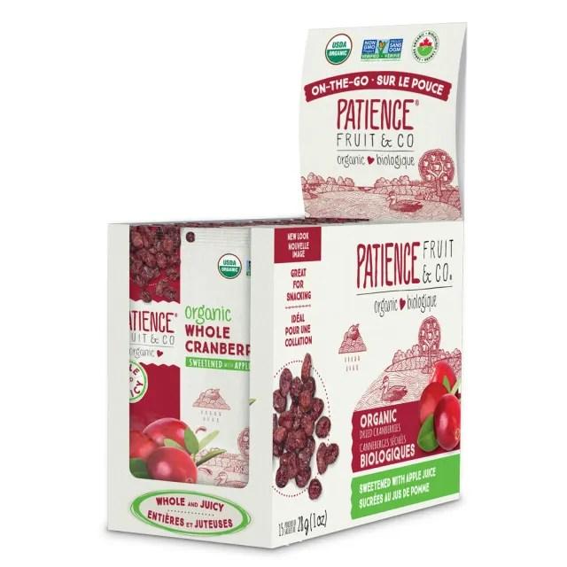 【有機思維】Patience沛森思 有機整顆蔓越莓乾28g(15包/箱)