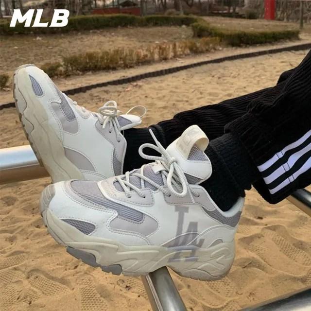 【MLB】復古老爹鞋 拼接撞色休閒鞋 側邊Logo 洛杉磯道奇隊(32SHC3111-07M)