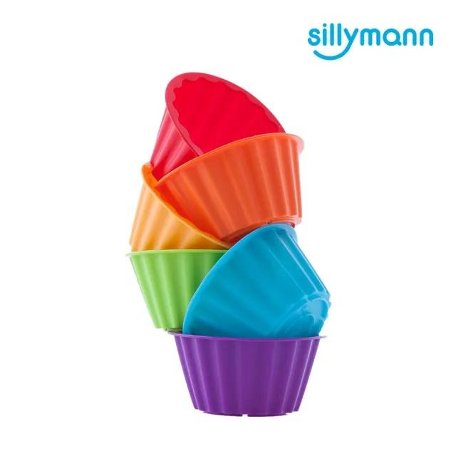 【韓國sillymann】100%鉑金矽膠鬆餅麵包烘焙模具-100ml/6入(鉑金矽膠可進洗碗機高溫清潔可沸水消毒)