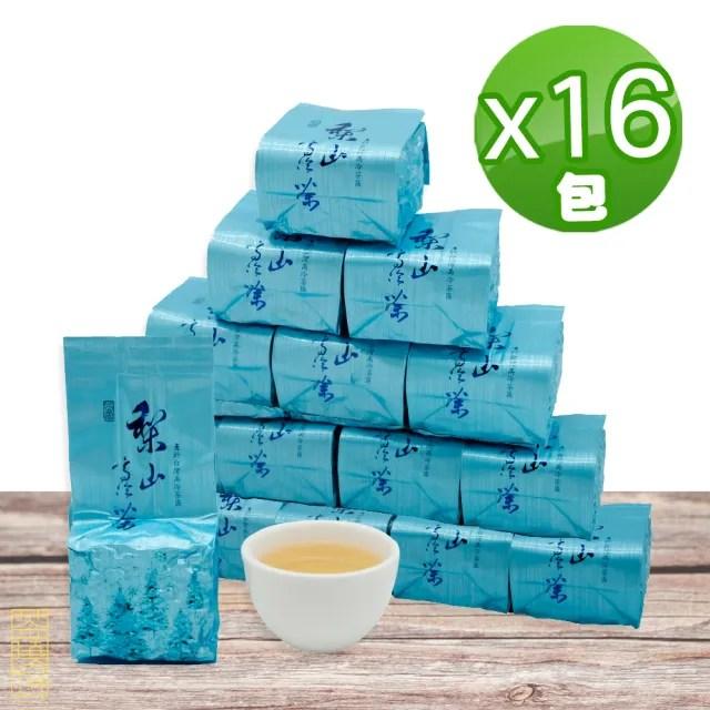 【茶曉得】梨山比賽級高冷烏龍茶葉75gx16包(2斤)
