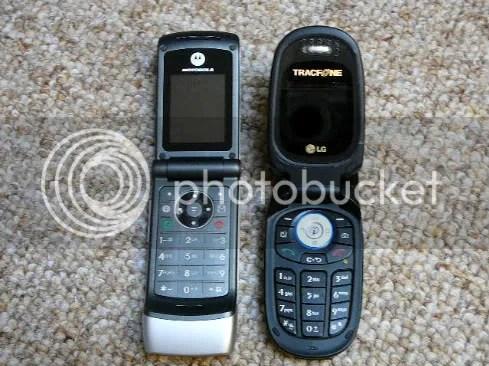 Motorola W376 and LG 225 Camera Phones