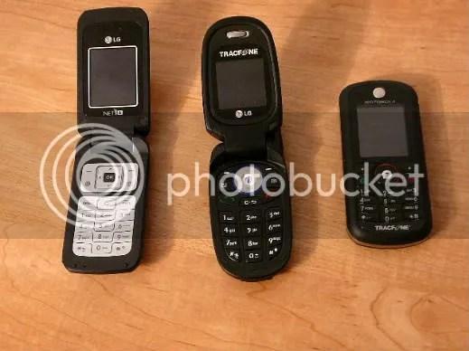 Tracfone LG 600, Lg 225 and Motorola C261