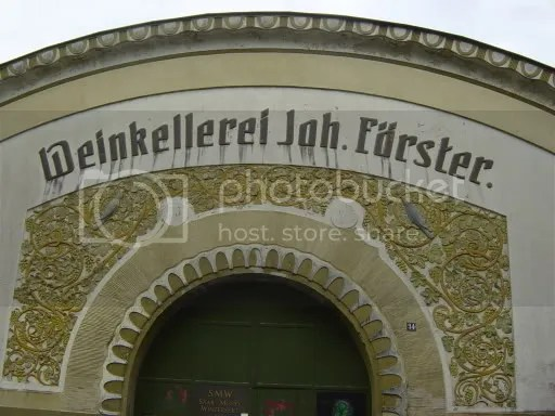 Weinkellerei Förster. One of many wineries in and around Trier
