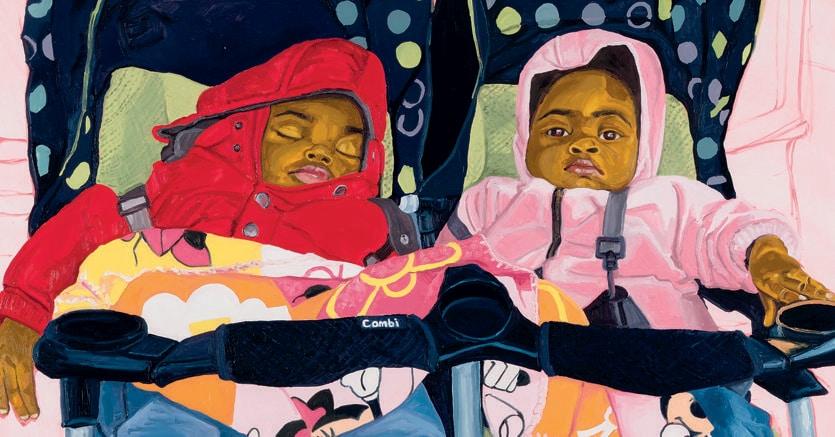 In fiera. Jordan Casteel, «Twins», 2017, esposto ad Art Basel dalla Galleria Casey Kaplan