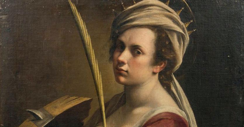 Artemisia Gentileschi, Autoritratto come Santa Caterina, aggiudicato per 2.4 milioni di euro (1614-16)