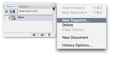 Creating a history snapshot