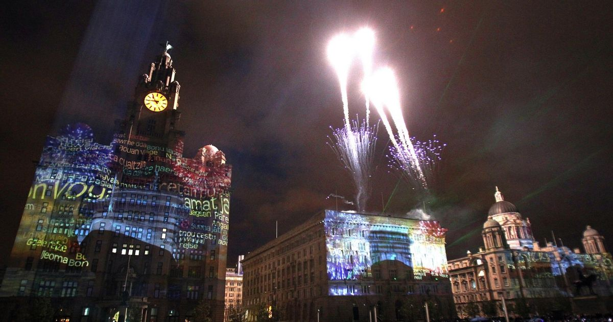 Liverpool New Years Firework Displays 28 Images