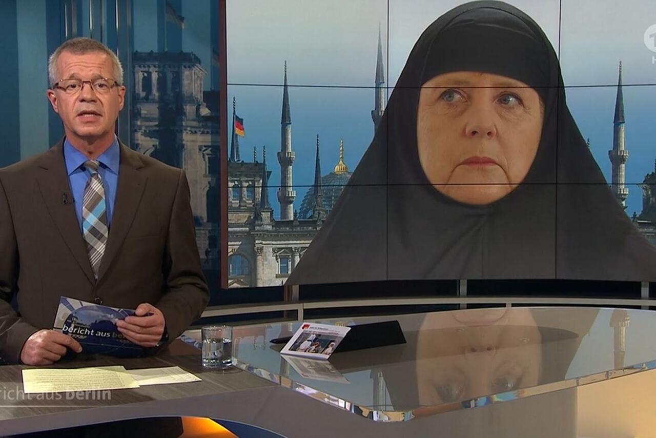 Bild zu Merkel, ARD, Kopftuch