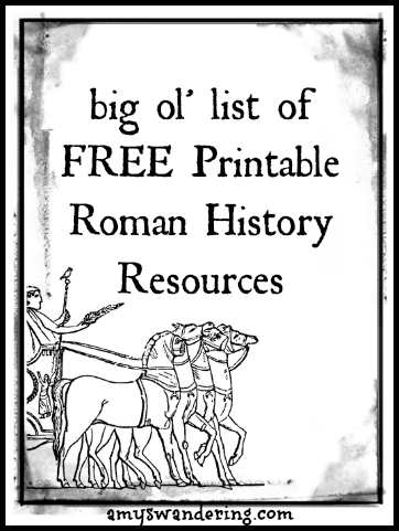 Roman History Printable Resources Amy S Wandering