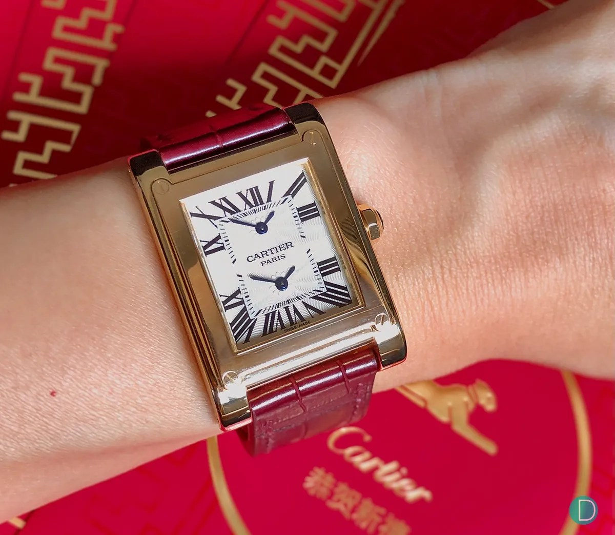 cartier tank a vis and santos galbee