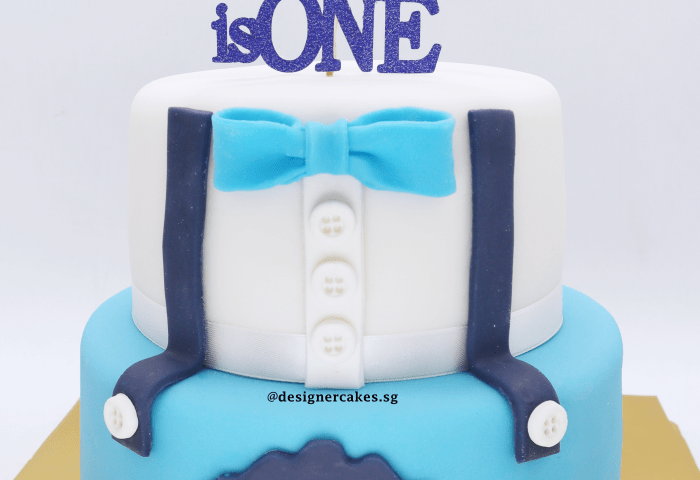 2 Tier Baby Boy 1st Birthday Baby Shower Design Cake Baby Blue