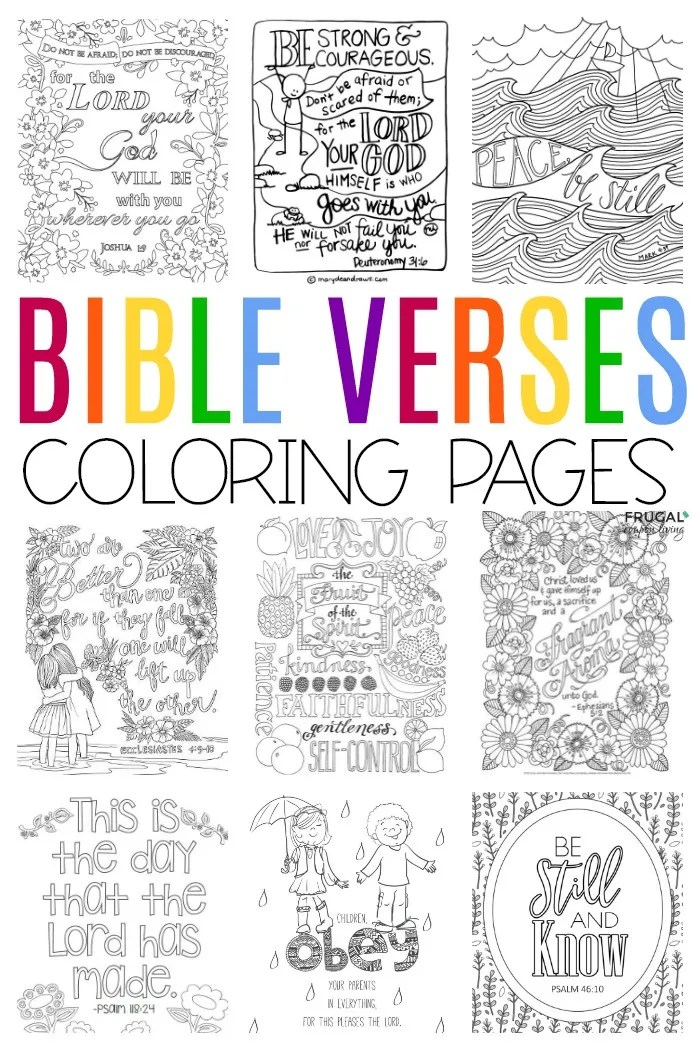 Bible Verse Coloring Pages For Adults Teens Toddlers