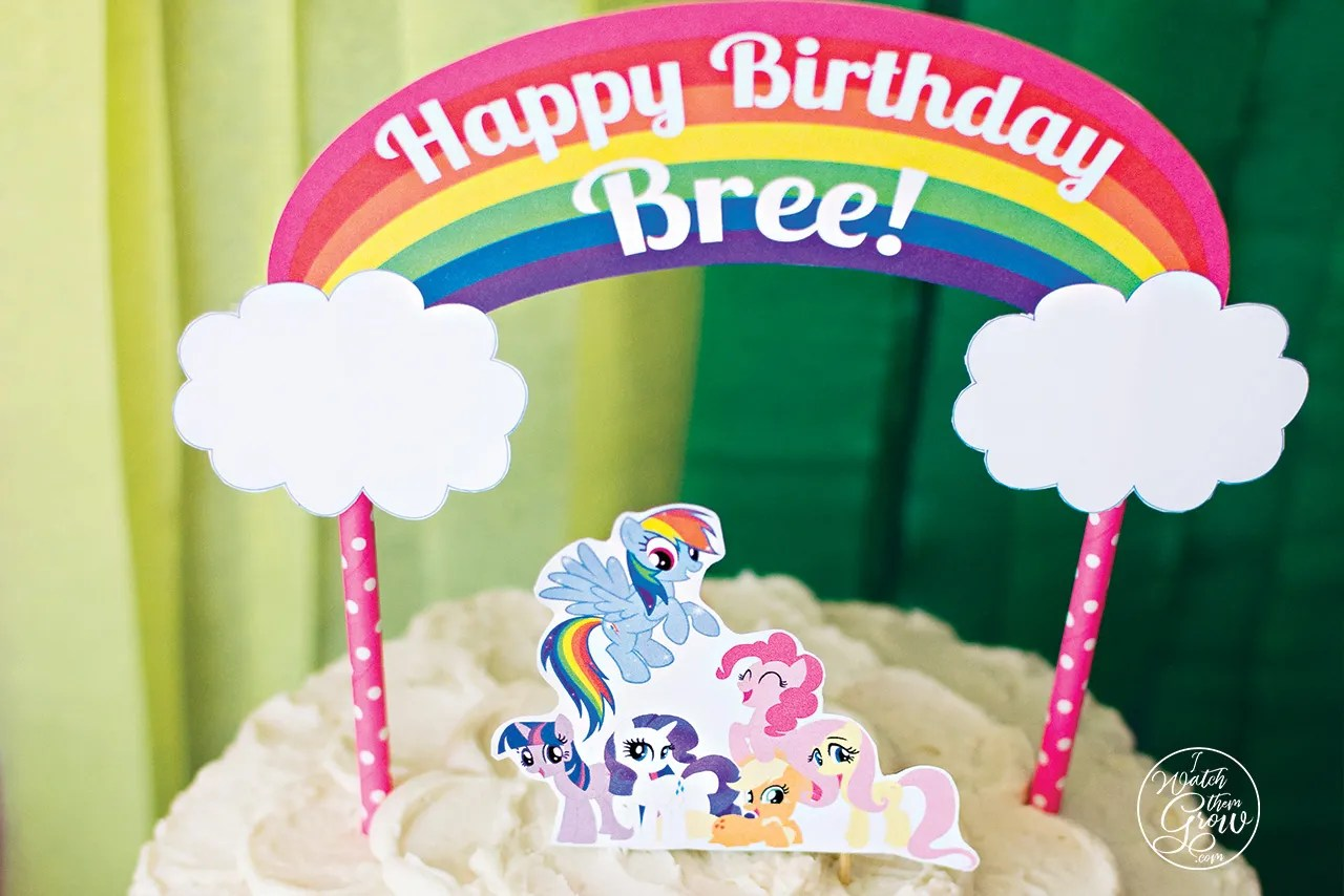 mlp rainbow dash birthday party printables