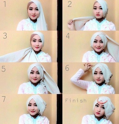 Model Jilbab Pesta Kekinian
