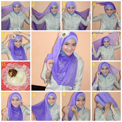 Model Hijab Kombinasi Paris