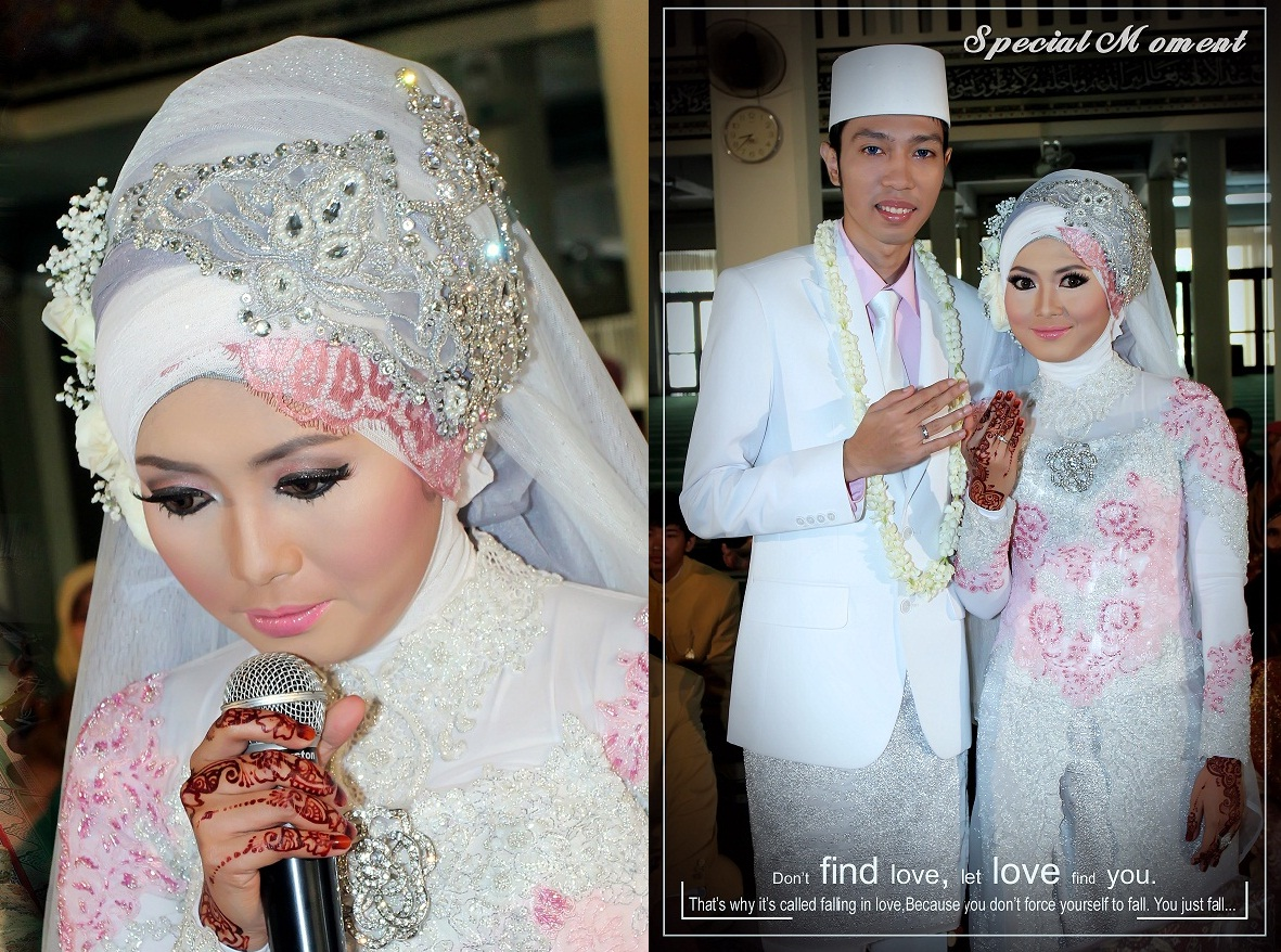 Model Hijab Akad Nikah Simple