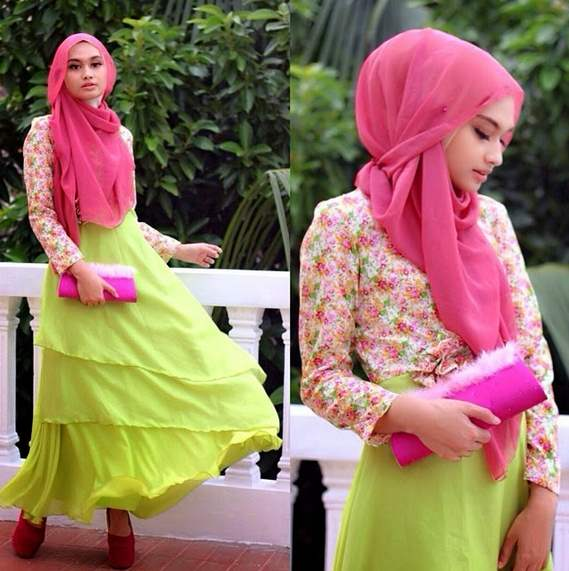 Model Hijab Pesta Lilit