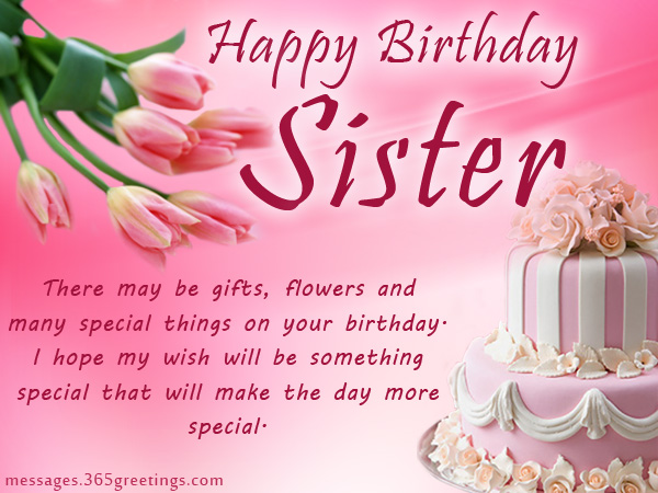 Birthday Wishes For Sister That Warm The Heart 365greetings Com
