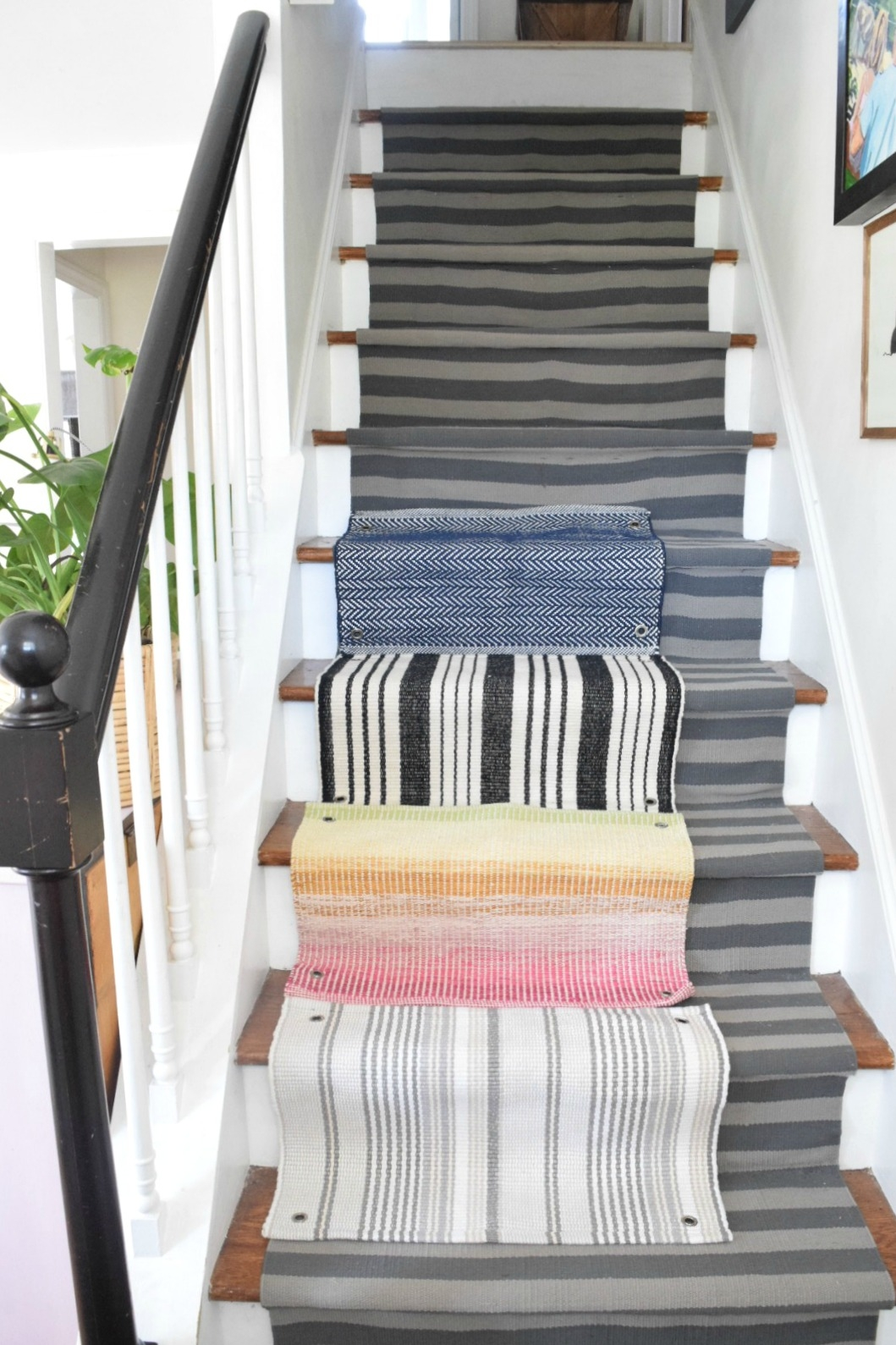 Learn From Our Mistakes When Installing A Stair Runner Nesting | Running Carpet For Stairs | Stair Tread | Hardwood | Wood | Grey | Stair Runners