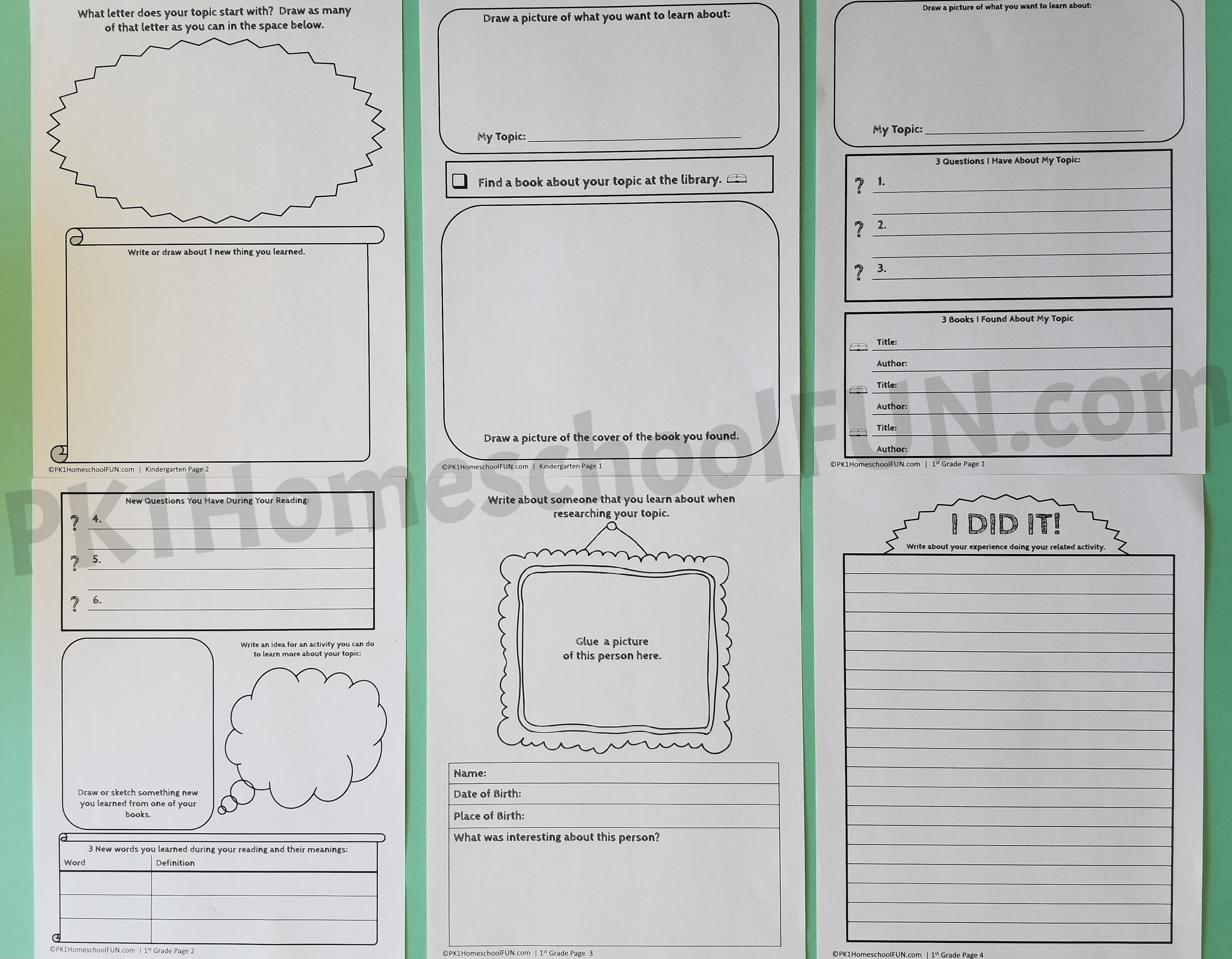 Free 1st Grade Research Paper Writing Template