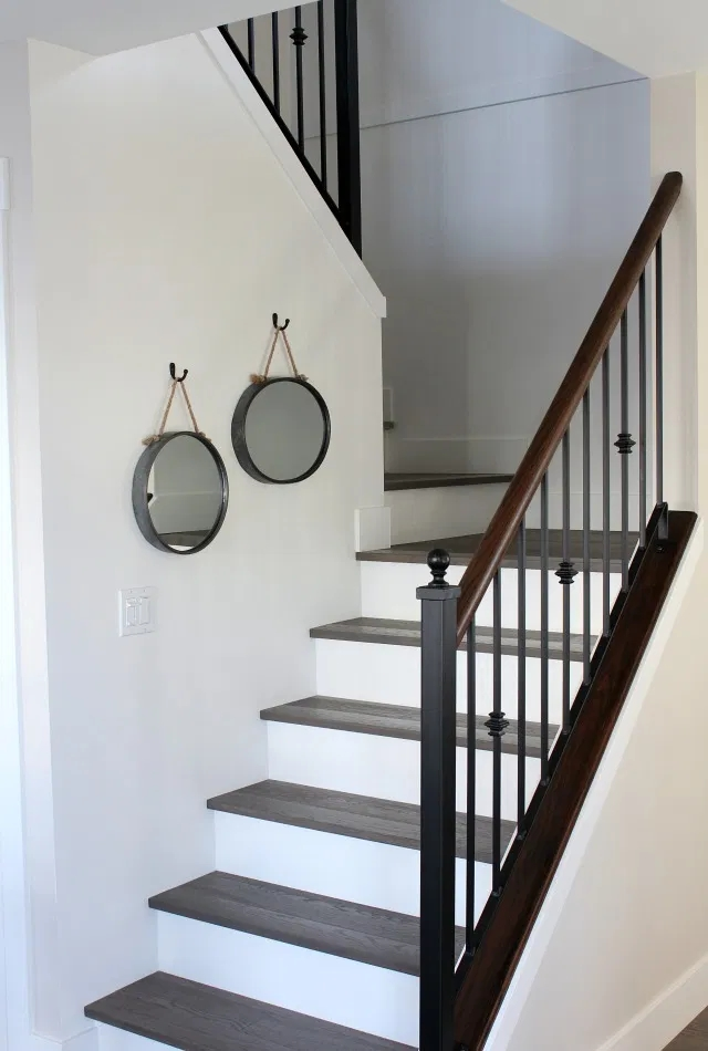 From Carpet To Hardwood Staircase Makeover Satori Design For | Carpet For Wooden Stairs | Search And Rescue | Bedroom | Carpeted Stair Railing Wooden Floor | Transition | Beautiful