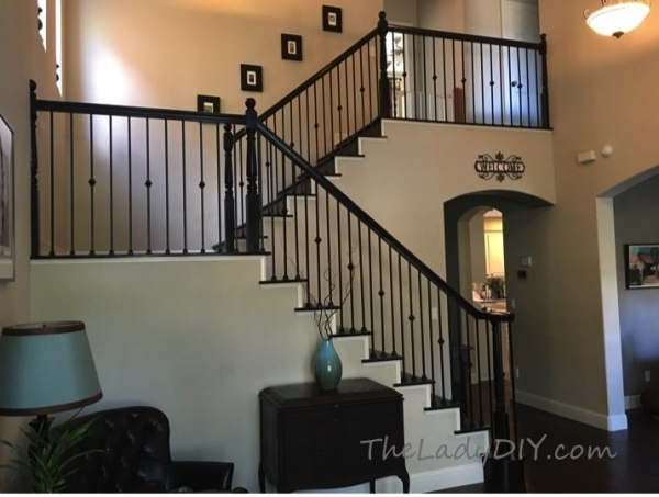How To Install Wrought Iron Spindles The Lady Diy   Iron Stair Railing Indoor   Interior Wrought   Wood   Cast Iron Balusters   Rod Iron   Railing Kits