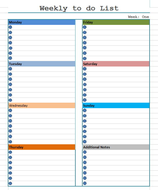 11 Free Printable Weekly To Do List Templates Ms Word Ms