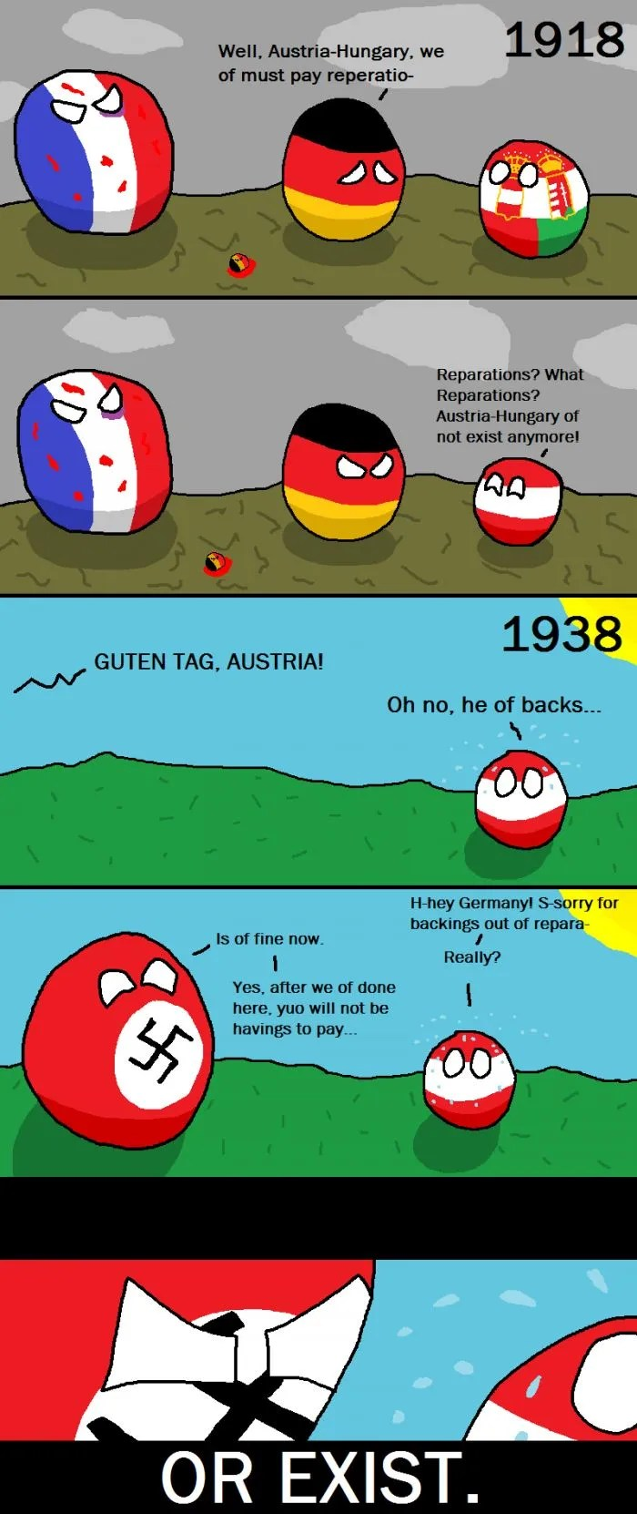 Austria Hungary In Countryballs Drawception