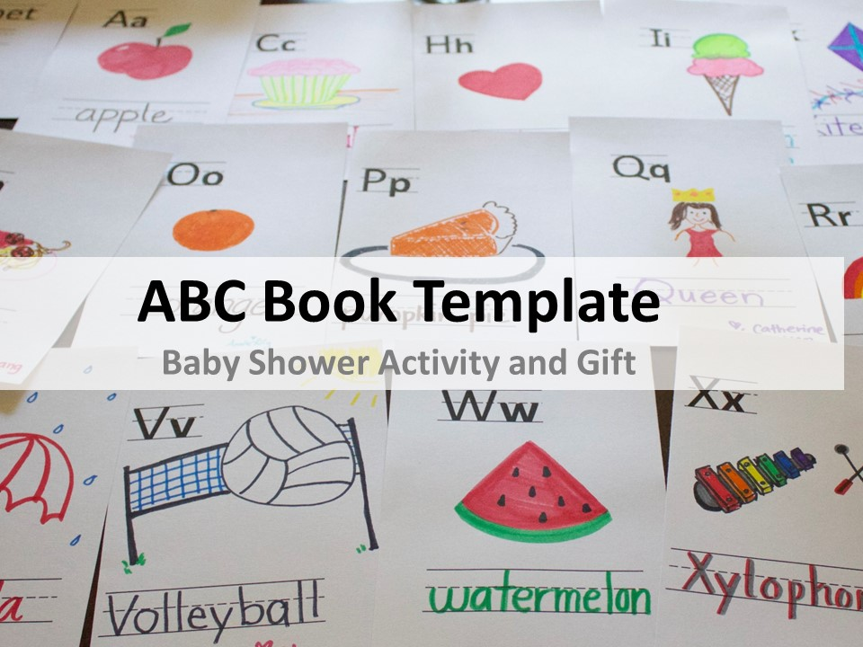 Abc Book Template For Baby Shower Cuppacocoa