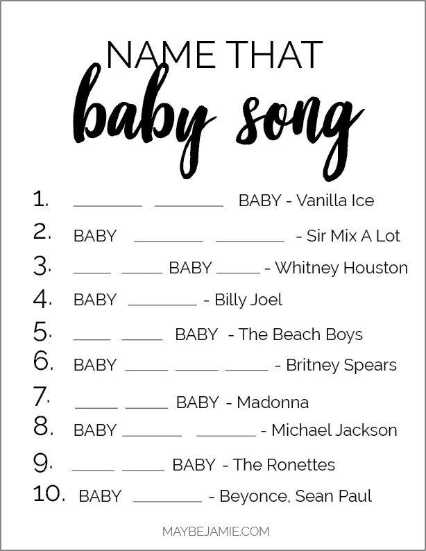 Baby Shower Game Ideas Free Printables Maybe Jamie